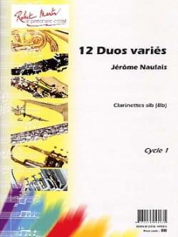 12 Duos variés Jérôme Naulais Partition Clarinette - laflutedepan