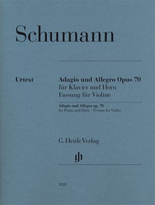 Adagio et Allegro Op. 70 - Violon SCHUMANN Partition laflutedepan
