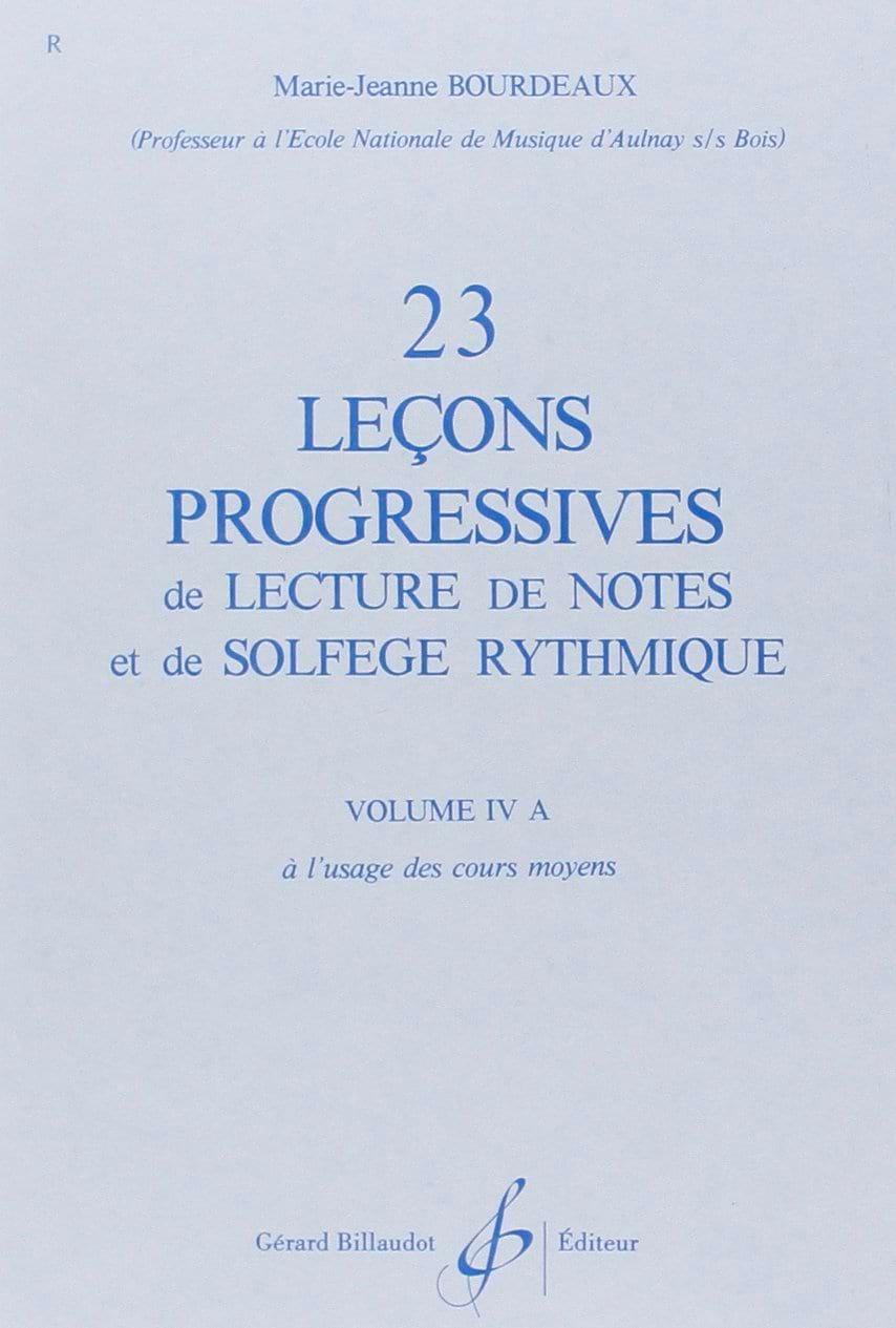 23 Leçons Progressives Volume 4A - BOURDEAUX - laflutedepan.com