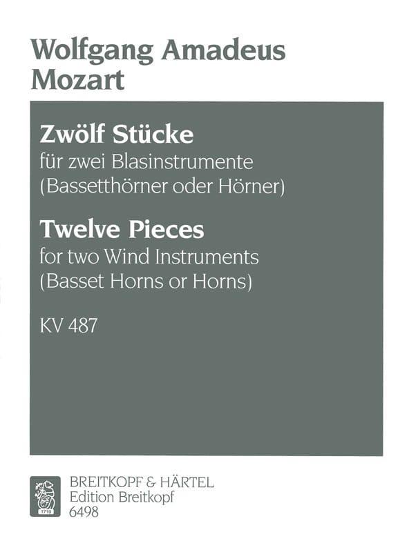 12 Stücke KV 487- 2 Blasinstrumente Bassethorner o. Hörner - laflutedepan.com