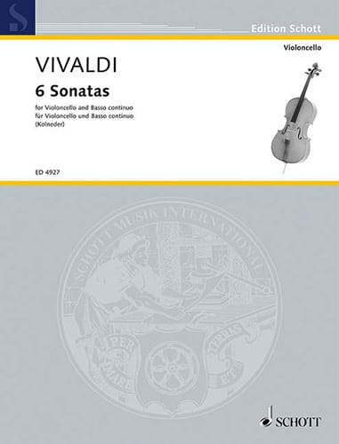 6 Sonatas - Violoncelle - VIVALDI - Partition - laflutedepan.com