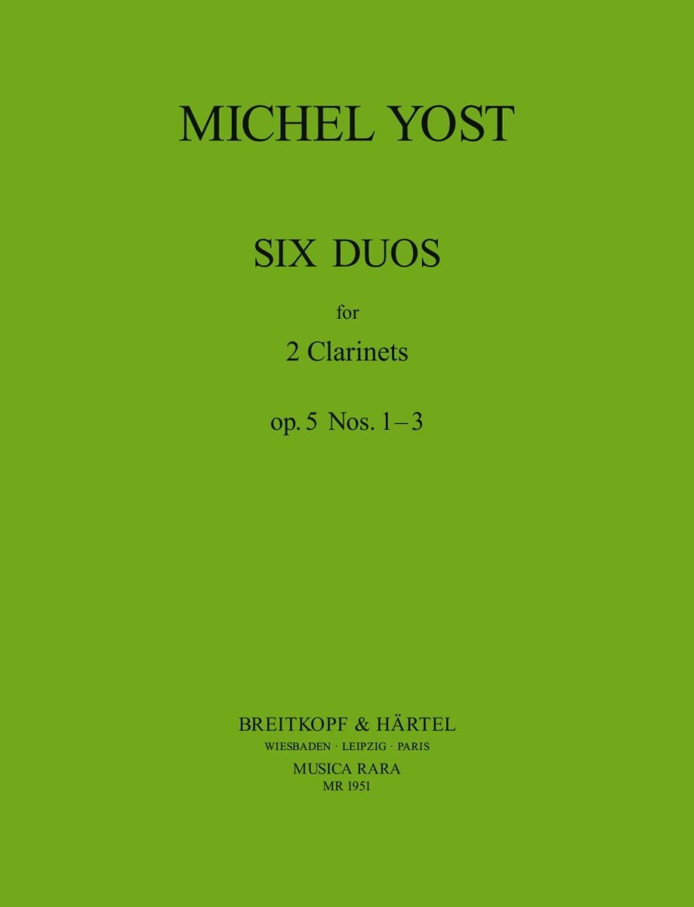 6 Duos Op. 5 N° 1-3 2 Clarinettes - Michel Yost - laflutedepan.com