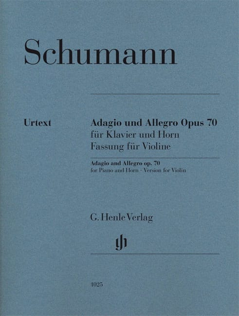 Adagio et Allegro Op. 70 - Violon - SCHUMANN - laflutedepan.com