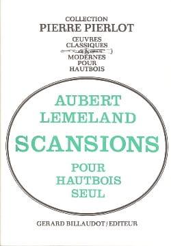 Scansions Aubert Lemeland Partition Hautbois - laflutedepan