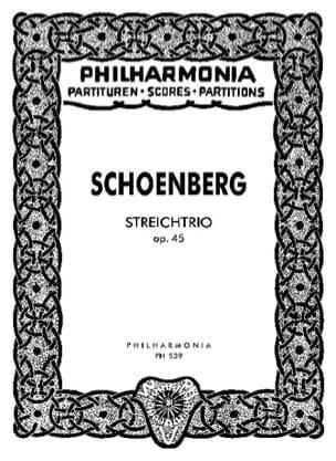 Streichtrio op. 45 - Partitur SCHOENBERG Partition laflutedepan