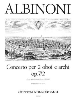 Concerto Op. 7 N° 2 ALBINONI Partition Trios - laflutedepan