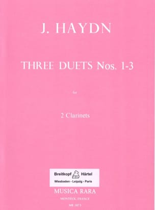Six Duos Concertants N° 1-3 - 2 Clarinets HAYDN Partition laflutedepan
