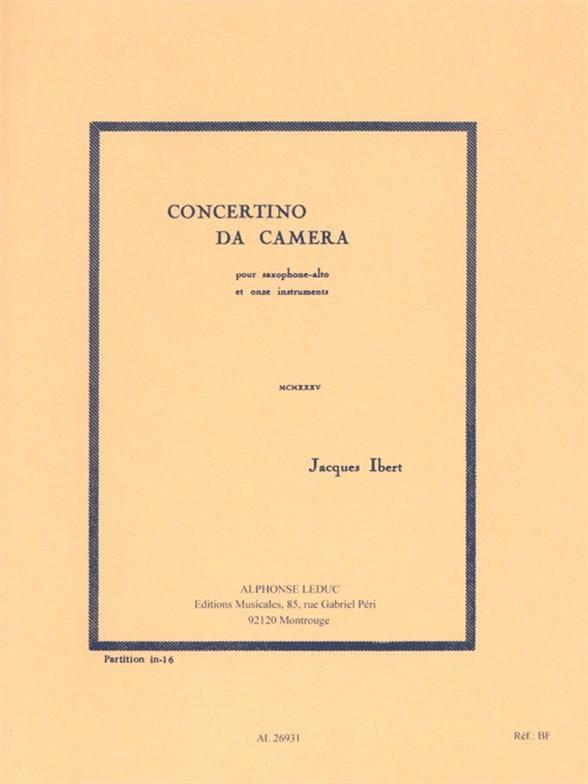Concertino da Camera - Conducteur - IBERT - laflutedepan.com