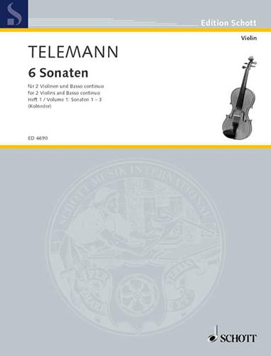 6 Sonaten, Bd. 1 : Nr. 1-3 - 2 Violinen u. Bc - laflutedepan.com
