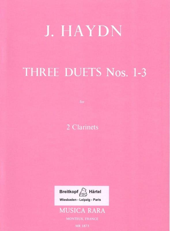 Six Duos Concertants N° 1-3 - 2 Clarinets - HAYDN - laflutedepan.com
