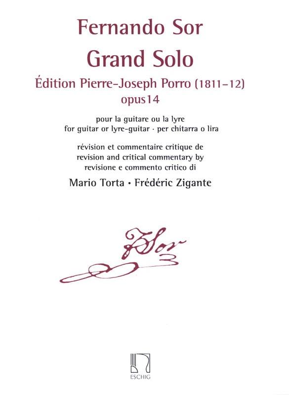 Grand Solo, opus 14 - Guitare - SOR - Partition - laflutedepan.com
