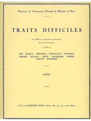 Traits difficiles - Flûte Gaston Crunelle Partition laflutedepan