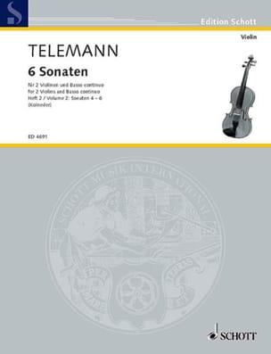 6 Sonaten, Bd. 2 : Nr. 4-6 -2 Violinen u. Bc - laflutedepan.com