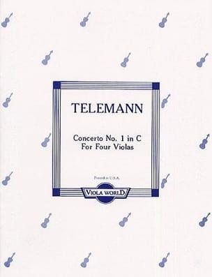 Concerto n° 1 in C - 4 Violas TELEMANN Partition Alto - laflutedepan
