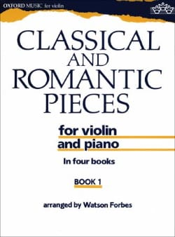 Classical and romantic pieces, Volume 1 Watson Forbes laflutedepan