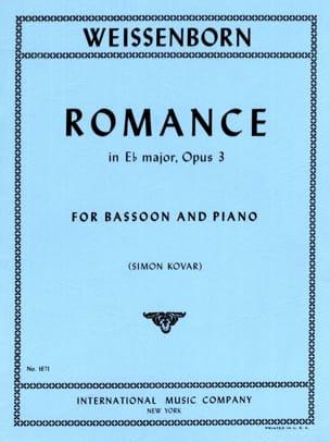 Romance in Eb major op. 3 Julius Weissenborn Partition laflutedepan