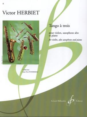 Tango a trois Victor Herbiet Partition Trios - laflutedepan