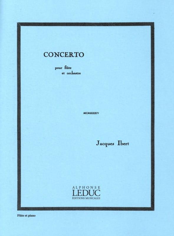 Concerto pour Flûte - IBERT - Partition - laflutedepan.com