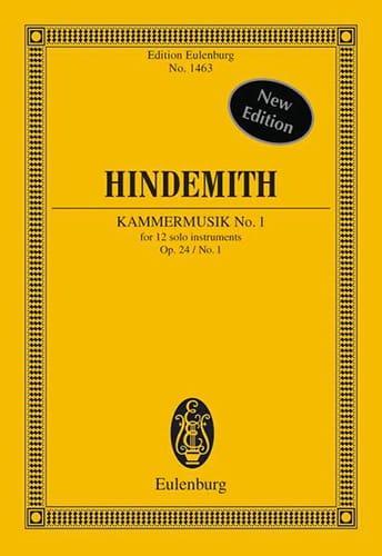 Kammermusik N°1 - Op.24 N°1 - HINDEMITH - Partition - laflutedepan.com