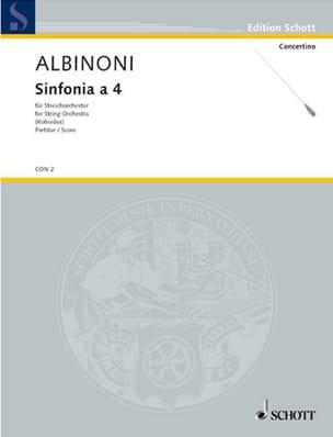 Sinfonia a 4 - Conducteur ALBINONI Partition laflutedepan