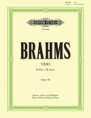 Trio Es op. 40 -Violine Waldhorn Klavier BRAHMS laflutedepan