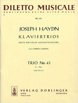 Klaviertrio Nr. 43 C-Dur Hob. 15 : 27 -Stimmen HAYDN laflutedepan