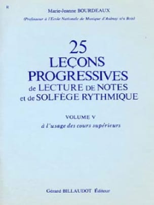 25 Leçons Progressives de Lecture de Notes et de Solfège Rythmique Vol.5 - laflutedepan.com