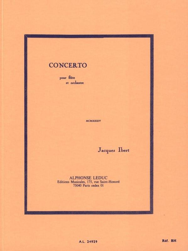 Concerto pour flûte - Conducteur - IBERT - laflutedepan.com