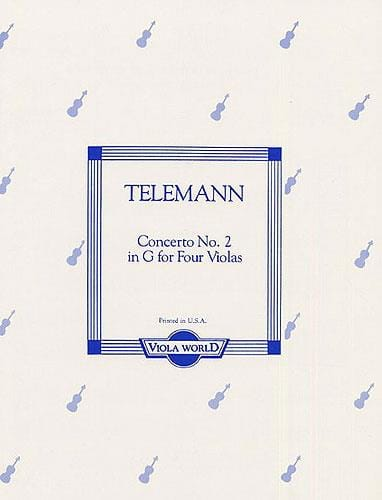 Concerto n° 2 in G - 4 altos - TELEMANN - Partition - laflutedepan.com