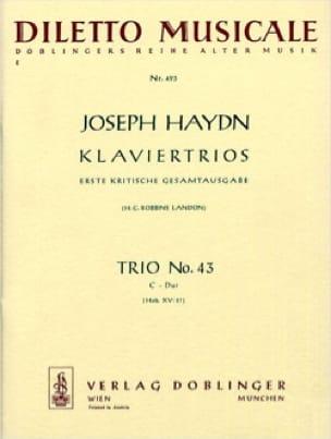 Klaviertrio Nr. 43 C-Dur Hob. 15 : 27 -Stimmen - laflutedepan.com
