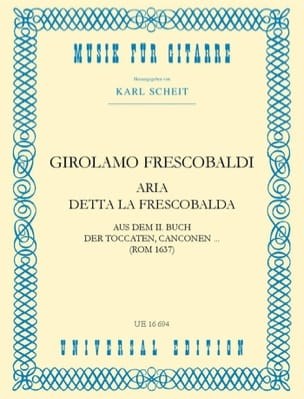 Aria detta la Frescobalda FRESCOBALDI Partition Guitare - laflutedepan