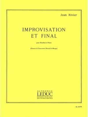 Improvisation et Final Jean Rivier Partition Hautbois - laflutedepan