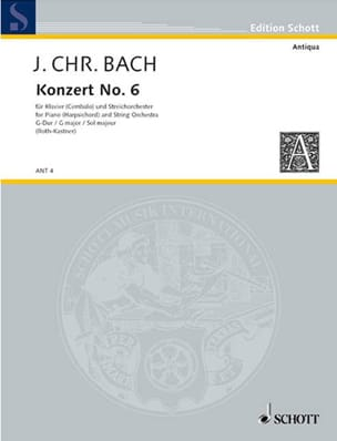 Klavier-Konzert Nr. 6 G-Dur Johann Christian Bach laflutedepan