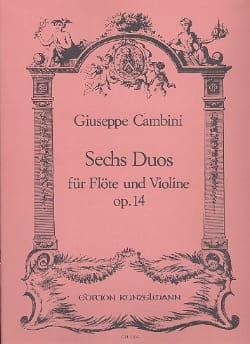 6 Duos op. 14 - Flöte Violine Giuseppe Maria Cambini laflutedepan