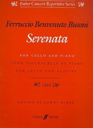 Serenata op. 34 BUSONI Partition Violoncelle - laflutedepan