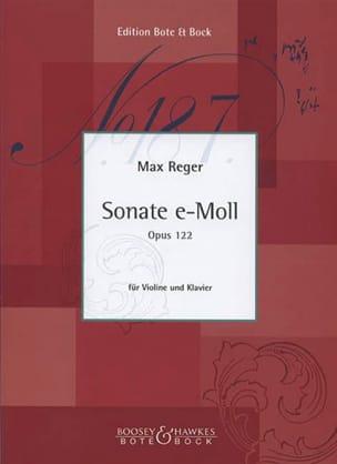 Sonate En Mi Min. Op. 122 Max Reger Partition Violon - laflutedepan