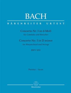 Concerto n° 1, BWV 1052 BACH Partition Grand format - laflutedepan
