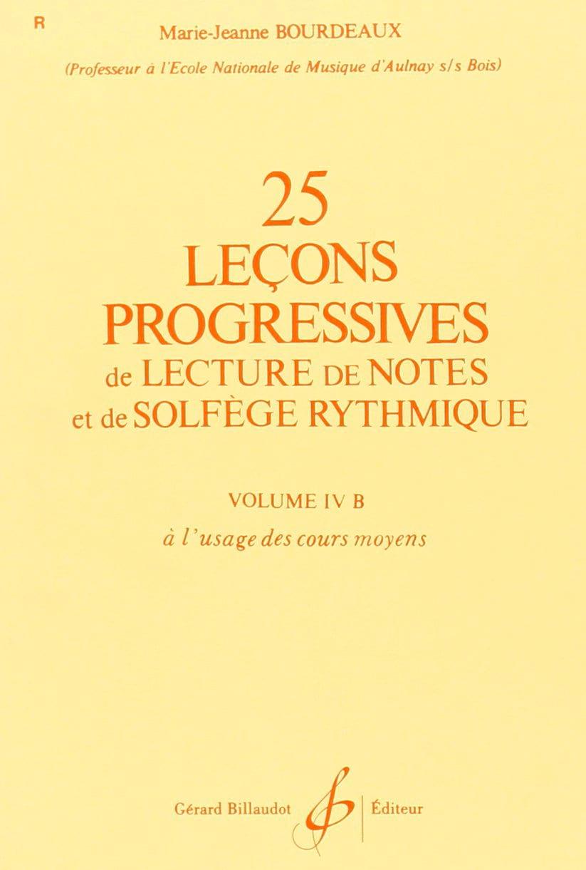 25 Leçons progressives Volume 4B - BOURDEAUX - laflutedepan.com