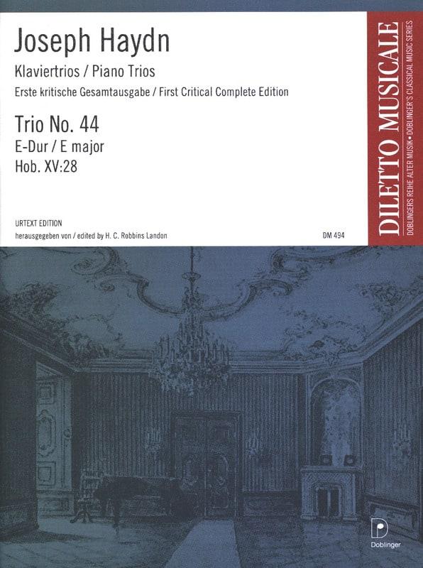 Klaviertrio Nr. 44 E-Dur Hob. 15 : 28 -Stimmen - laflutedepan.com