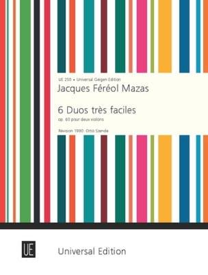 6 Duos très faciles op. 60 MAZAS Partition Violon - laflutedepan