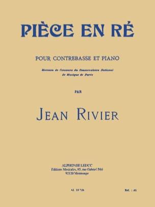 Piece en ré - Contrebasse Jean Rivier Partition laflutedepan