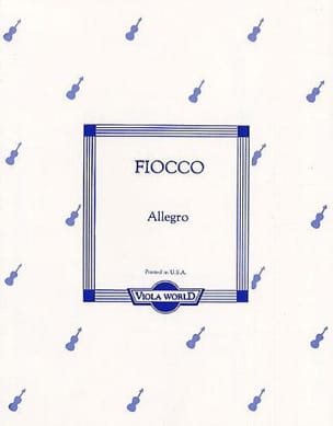 Allegro - Alto Joseph Hector Fiocco Partition Alto - laflutedepan