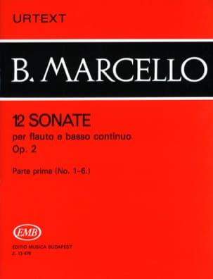 Benedetto Marcello - 12 Sonatas op. 2 - Volume 1 n ° 1-6 - flute and basso continuo - Partition - di-arezzo.com