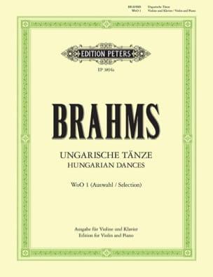 Ungarische Tänze WoO 1 BRAHMS Partition Violon - laflutedepan