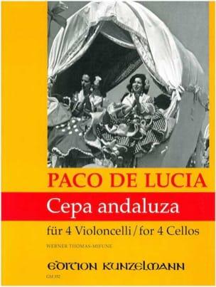 Cepa andaluza Paco de Lucia Partition Violoncelle - laflutedepan