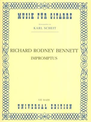 Impromptus Richard Rodney Bennett Partition Guitare - laflutedepan