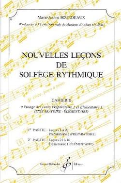 Nouvelles lecons de solfège rythmique Volume 2 BOURDEAUX laflutedepan