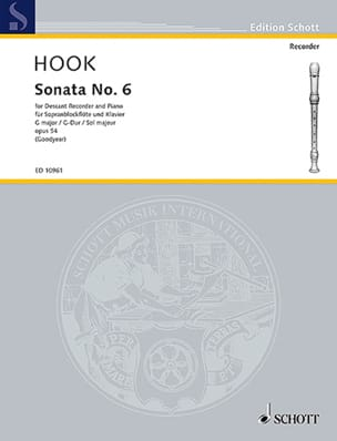 Sonata Nr. 6 G-Dur - Sopranblockflöte u. Klavier - laflutedepan.com