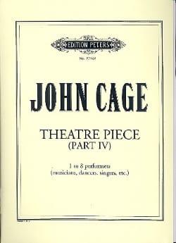Theatre Pieces - Part 4 CAGE Partition Grand format - laflutedepan