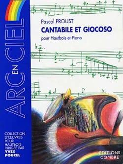 Cantabile et Giocoso Pascal Proust Partition Hautbois - laflutedepan